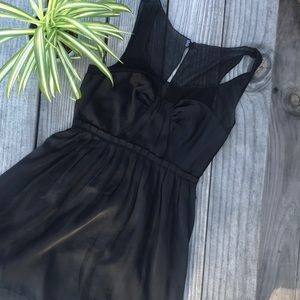 American Eagle black chiffon party dress